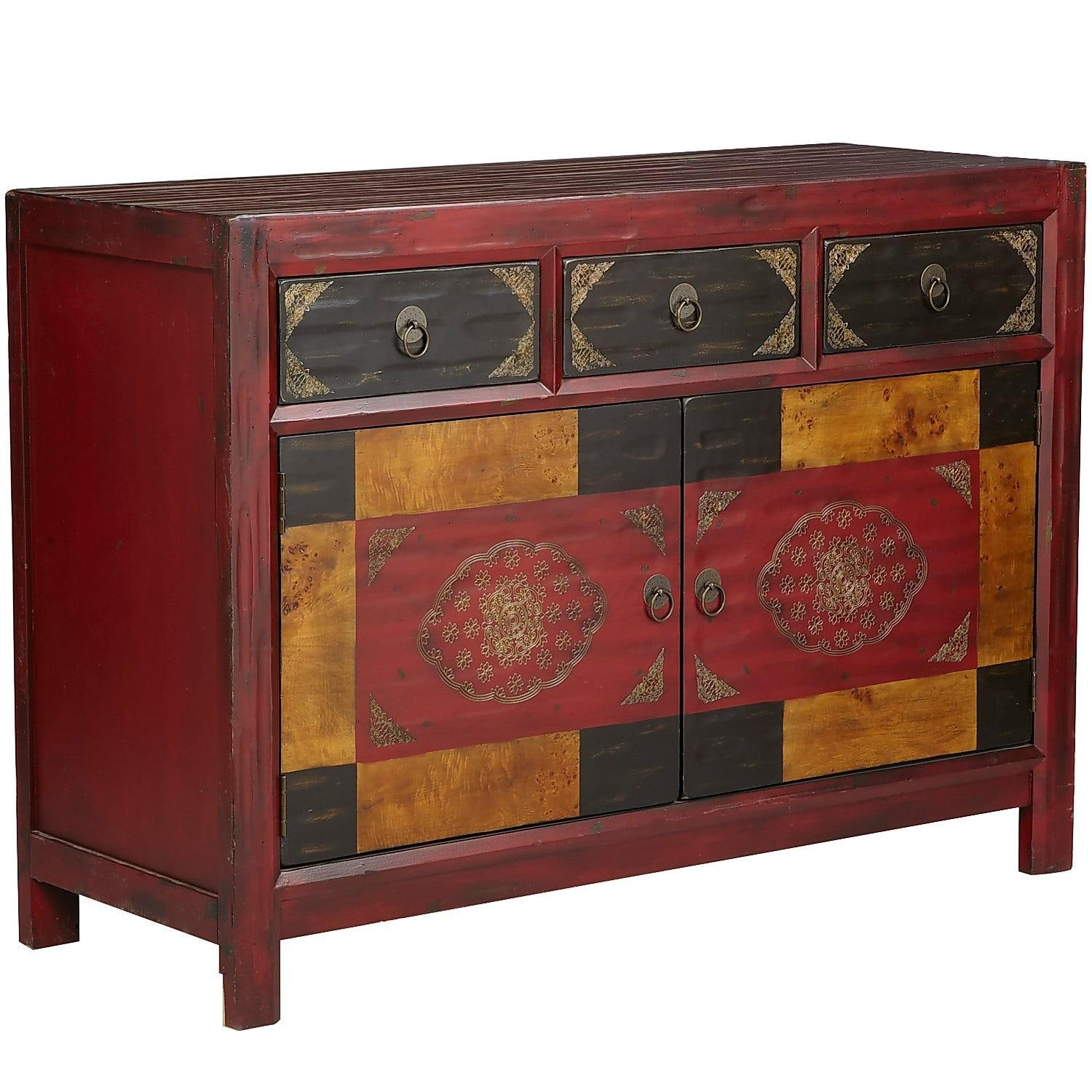 Pier 1 Hand-Painted Credenza/Media Stand - image-0