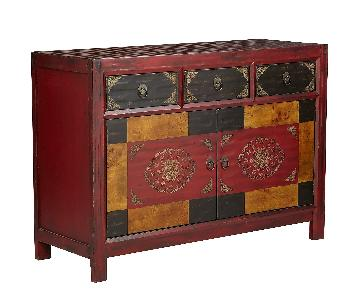 Pier 1 Hand-Painted Credenza/Media Stand
