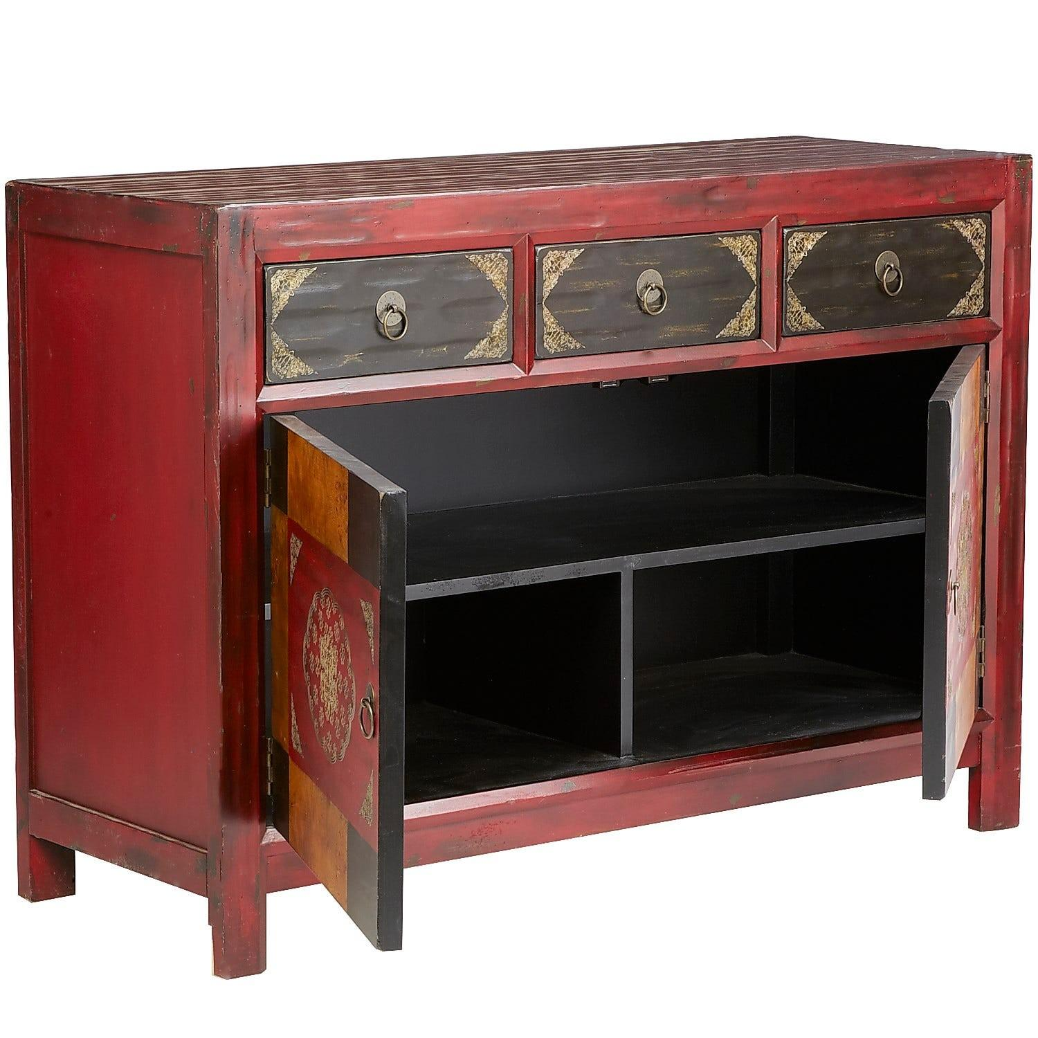 Pier 1 Hand-Painted Credenza/Media Stand - image-1