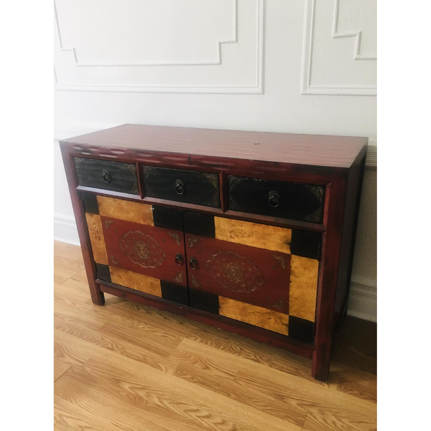 Pier 1 Hand-Painted Credenza/Media Stand - image-3