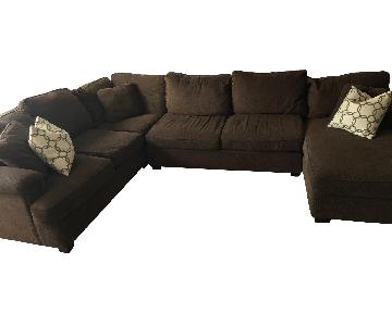Bloomingdale's Brown 3 Piece Sectional Sofa