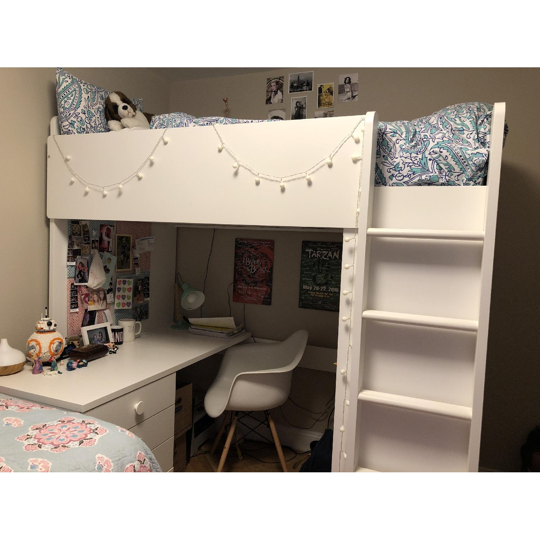Ikea Stuva Kids 3-in-1 Loft Bed w/ Closet & Desk - image-2