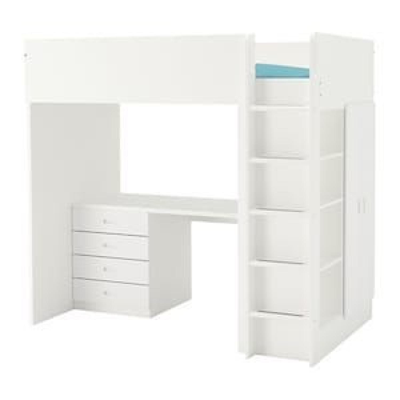 Ikea Stuva Kids 3-in-1 Loft Bed w/ Closet & Desk - image-0