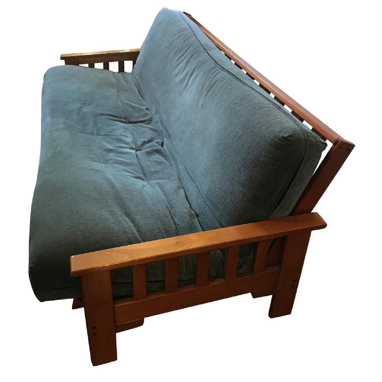 Full Size Wood Frame Futon - image-0