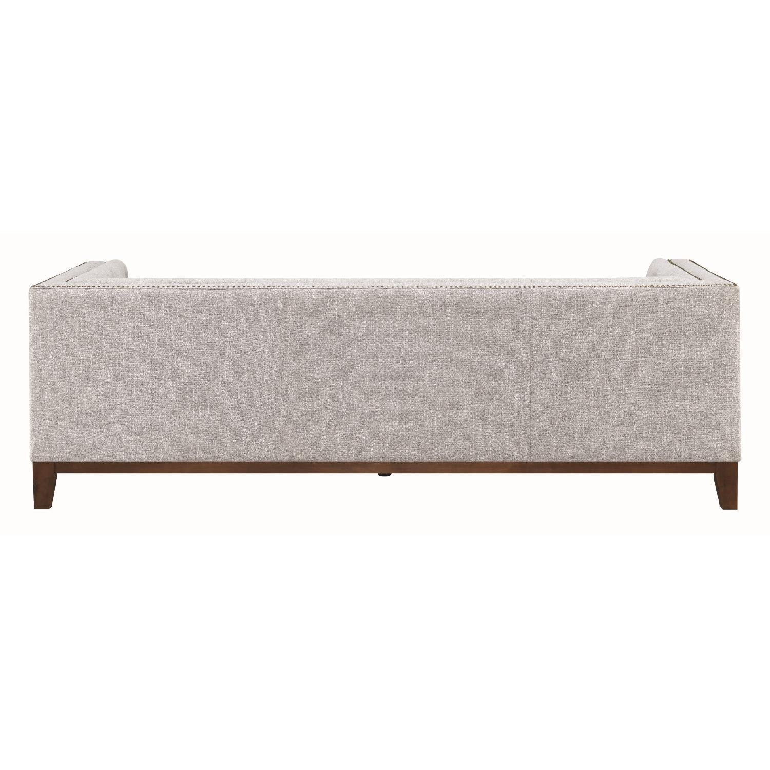 Modern Style Sofa w/ Tufted Buttons & Nailhead Accent - image-4