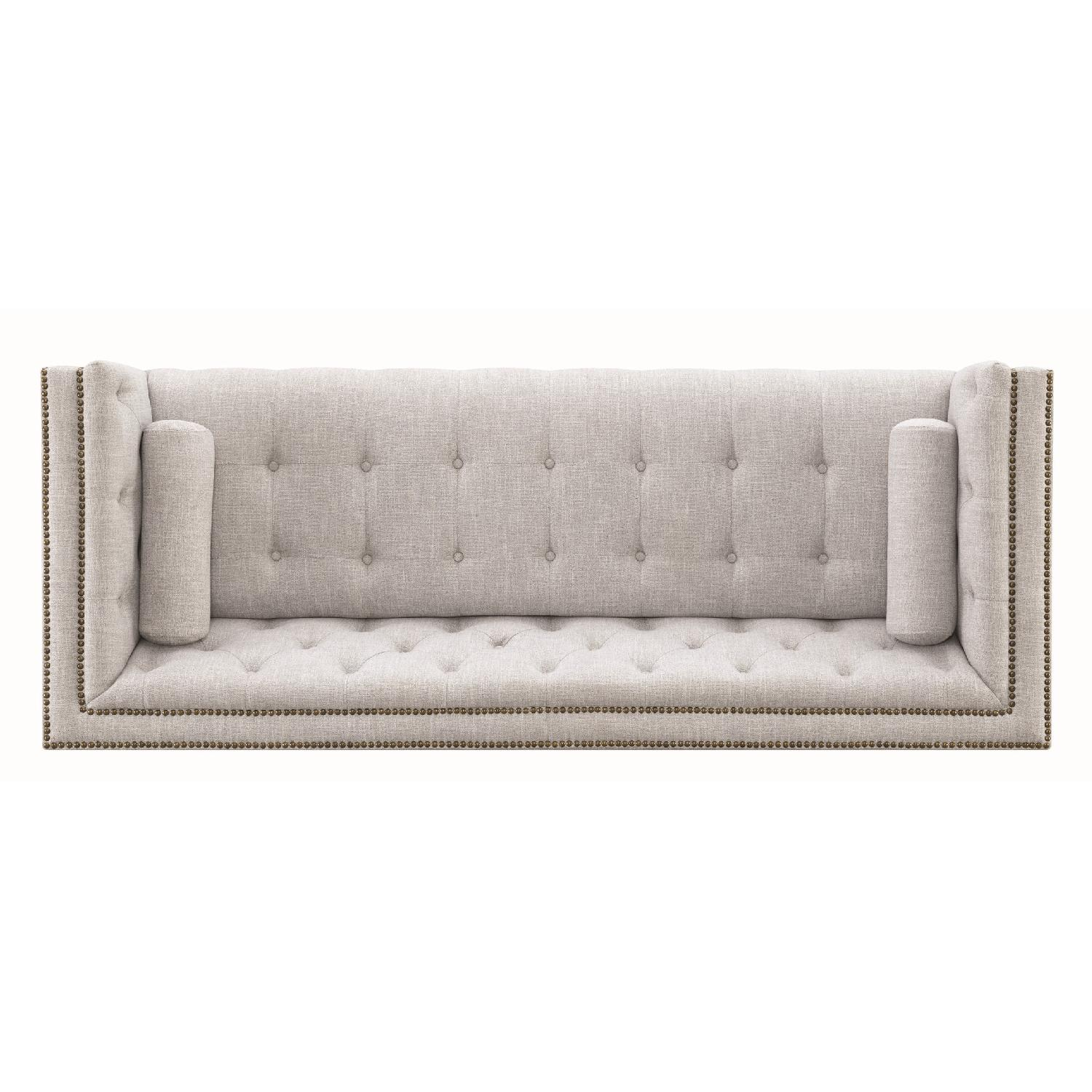 Modern Style Sofa w/ Tufted Buttons & Nailhead Accent - image-5