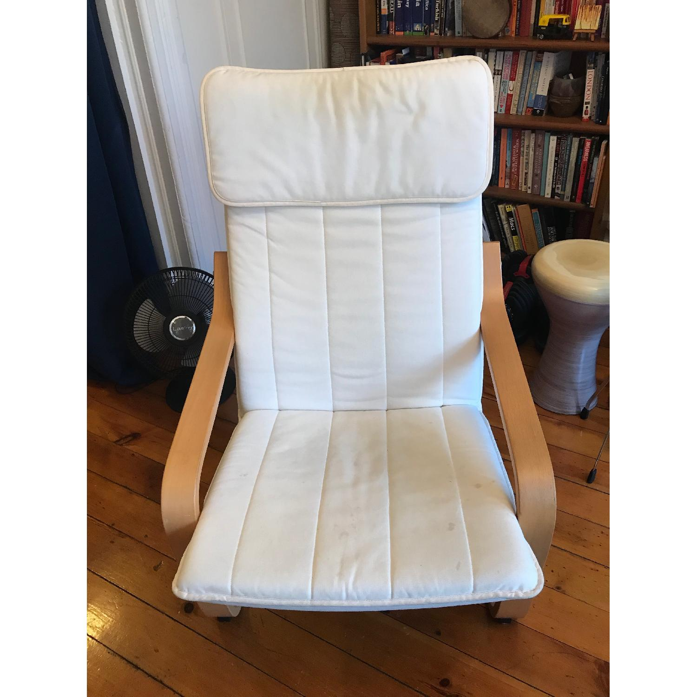 Ikea Poang White Armchair - image-1