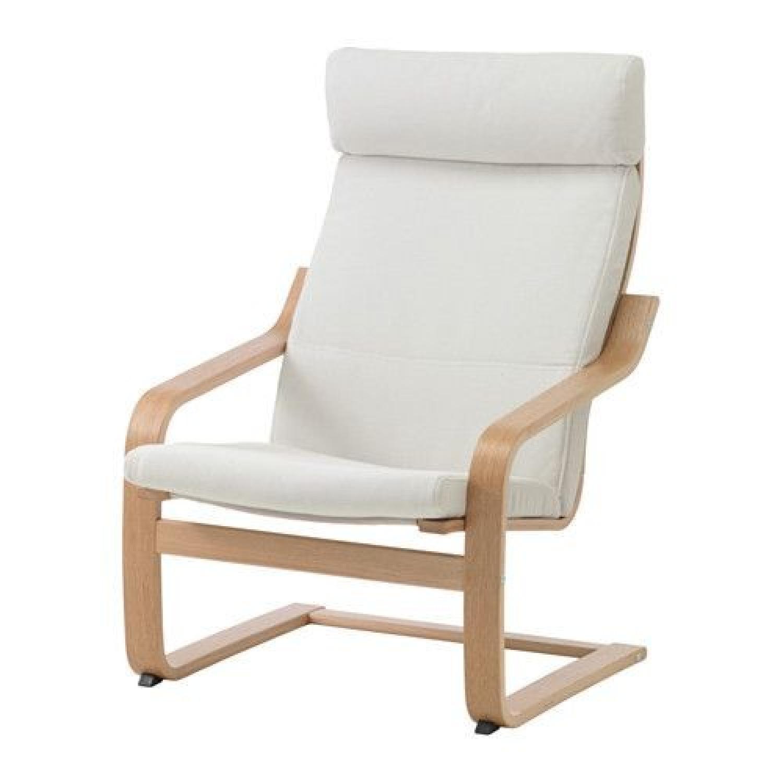 Ikea Poang White Armchair - image-0