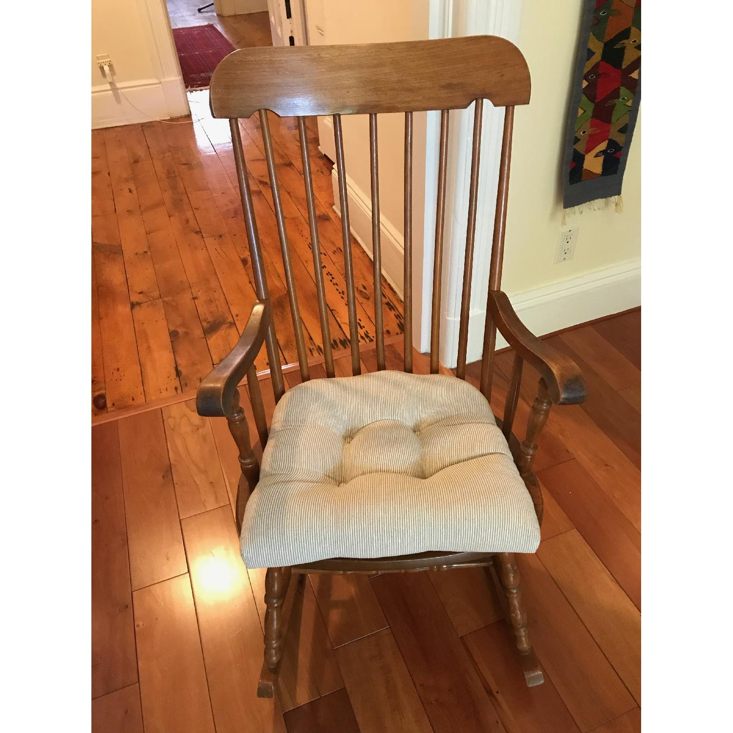 Vintage Wooden Rocking Chair - image-1