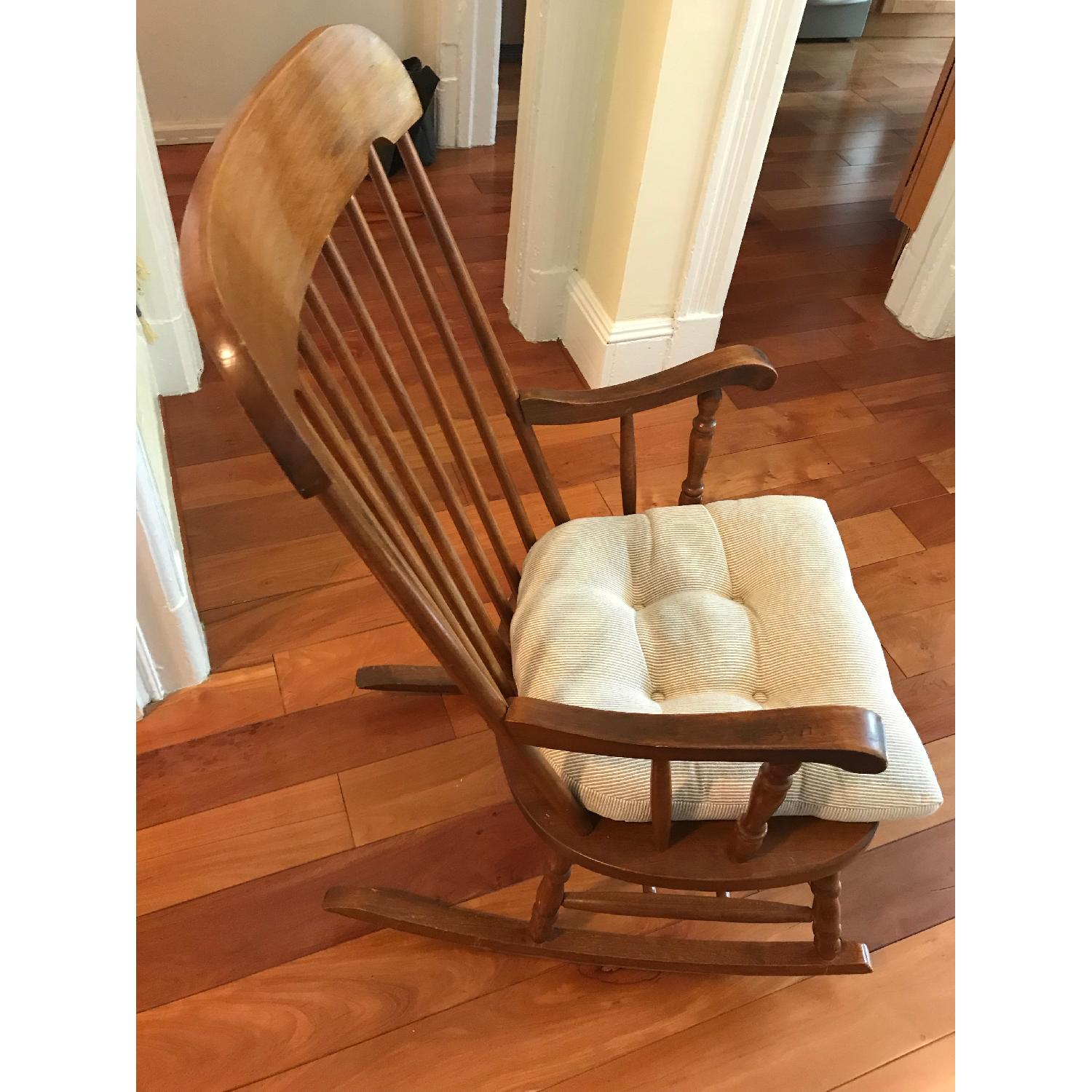 Vintage Wooden Rocking Chair - image-2