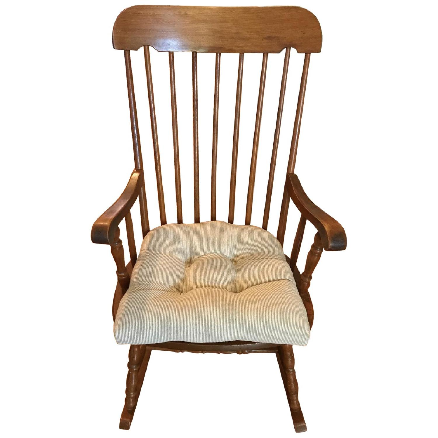 Vintage Wooden Rocking Chair - image-0
