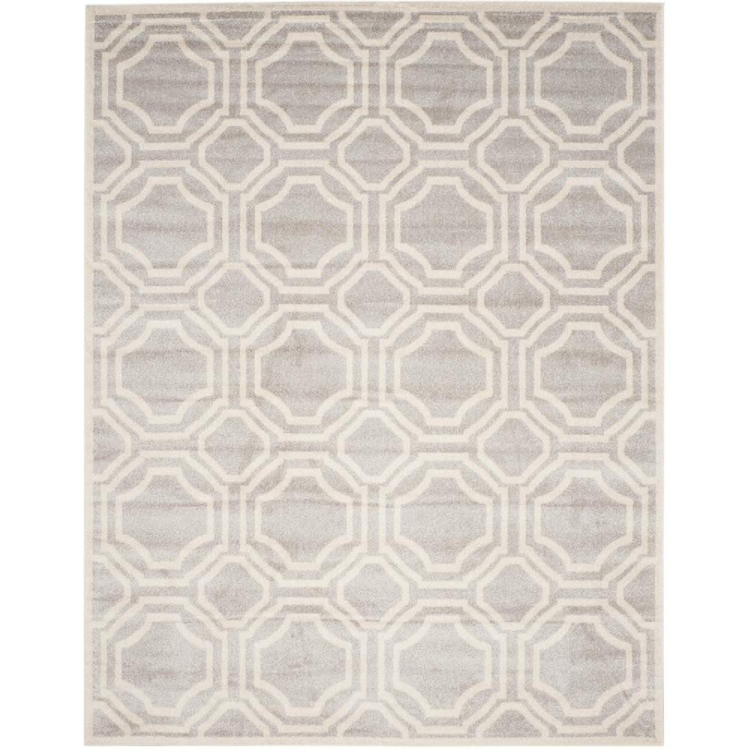 Safavieh Indoor/Outdoor Amherst Light Grey/Ivory Rug - image-0