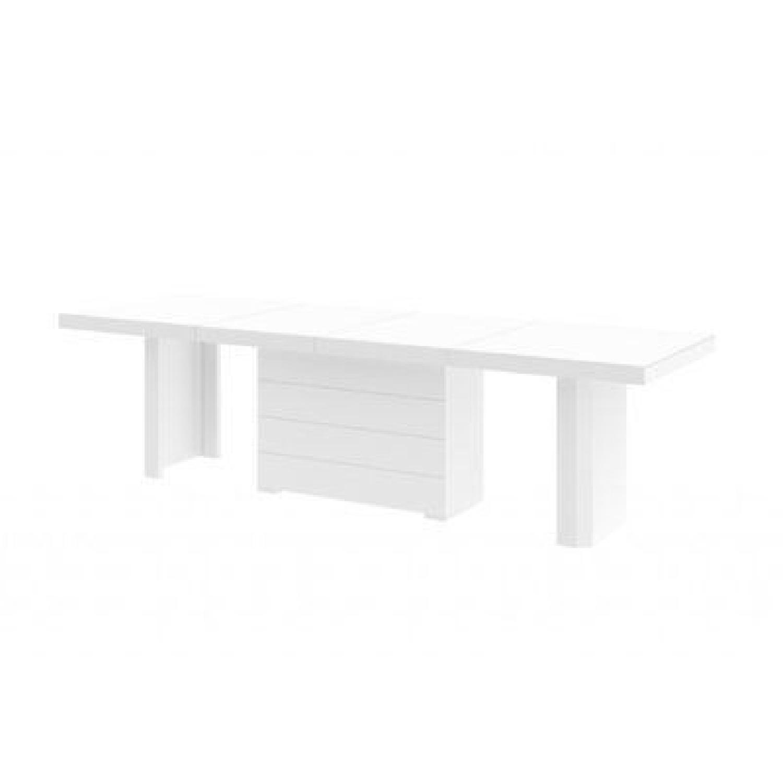 Orren Ellis Stotfold White Extendable Table
