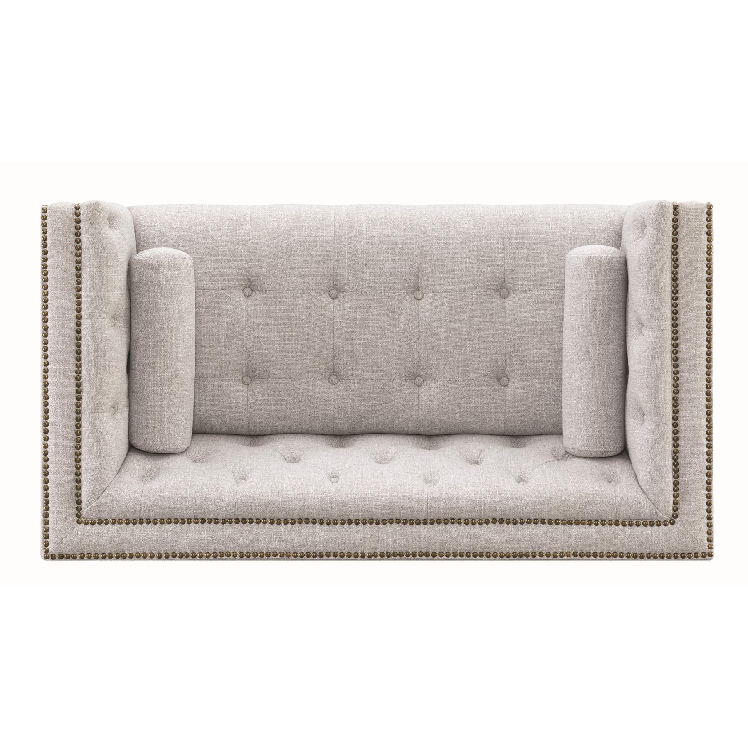Modern Style Loveseat w/ Tufted Buttons & Nailhead Accent - image-5