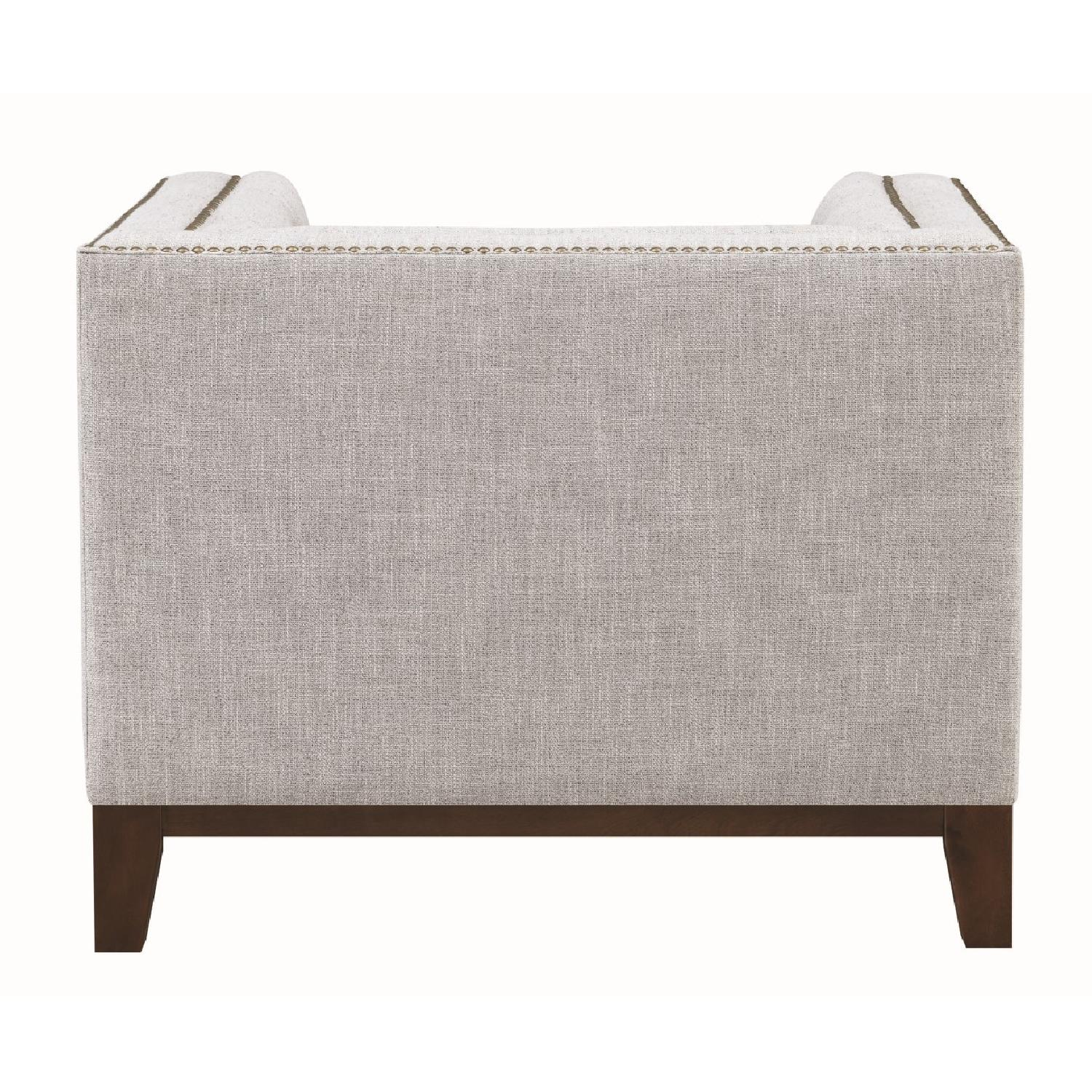 Modern Style Armchair w/ Tufted Buttons & Nailhead Accent - image-1