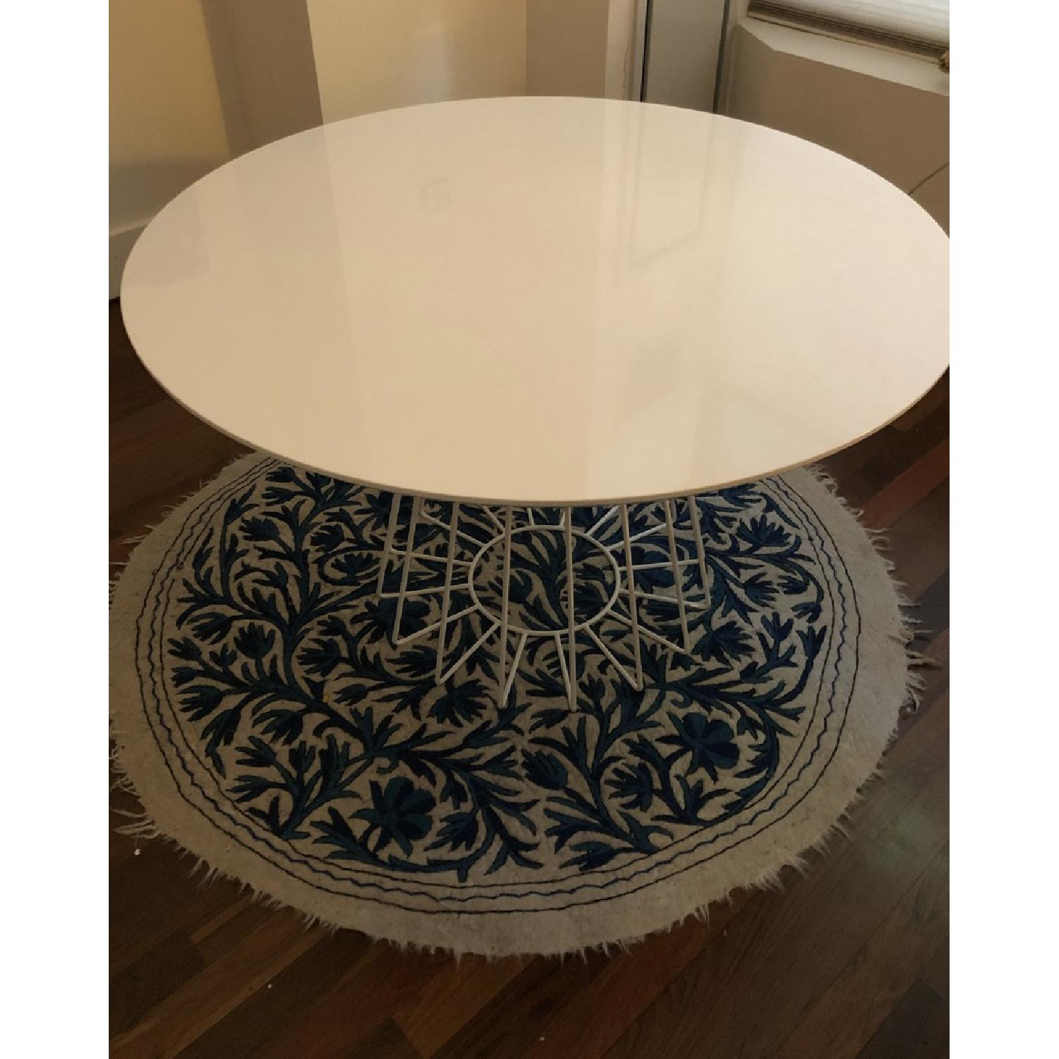 CB2 Compass White Table - image-1