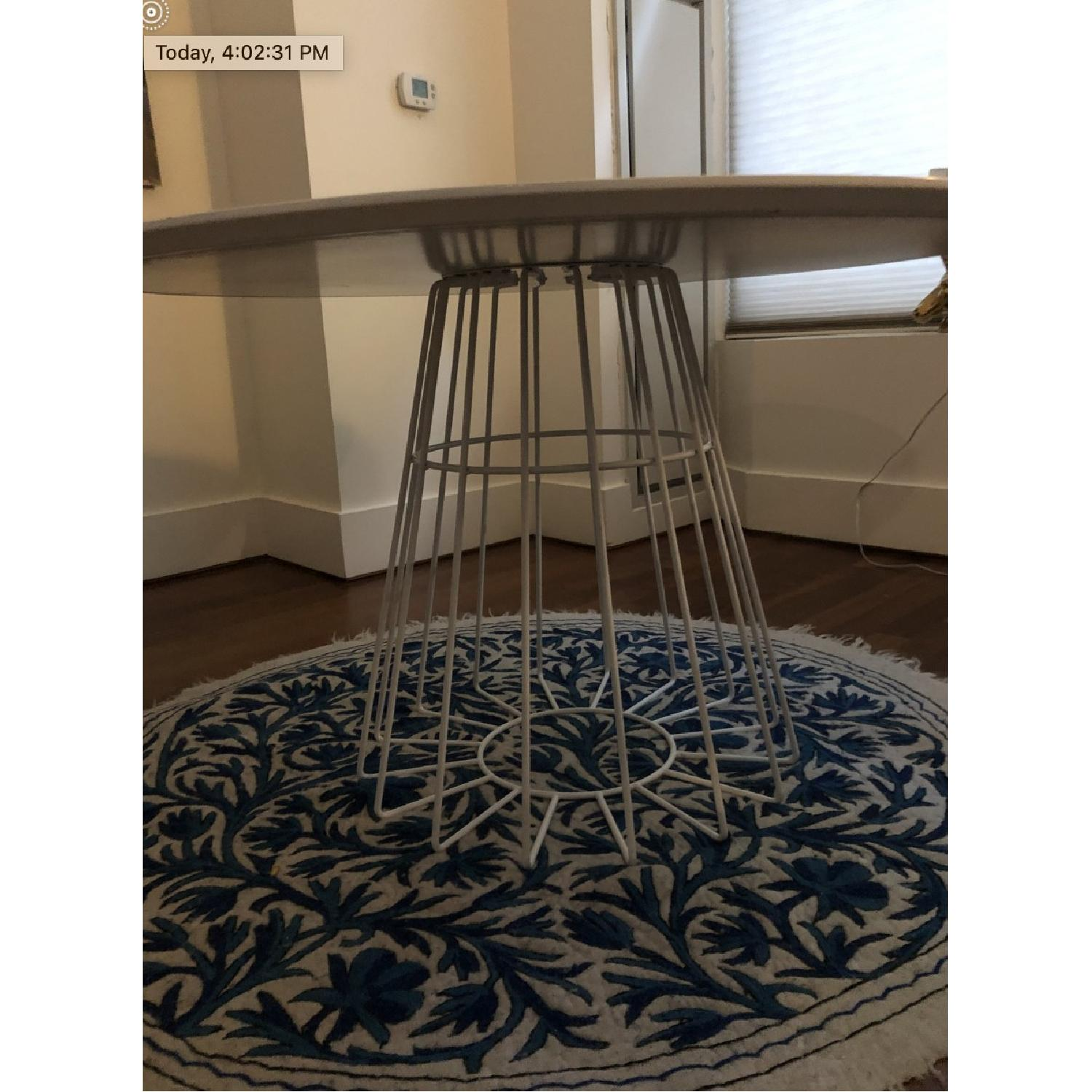 CB2 Compass White Table - image-3