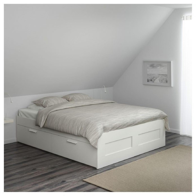 Ikea Brimnes Storage Bed w/ Headboard - image-3