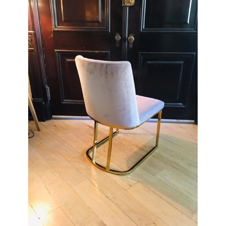 Pink/Purple Velvet Chairs - image-1