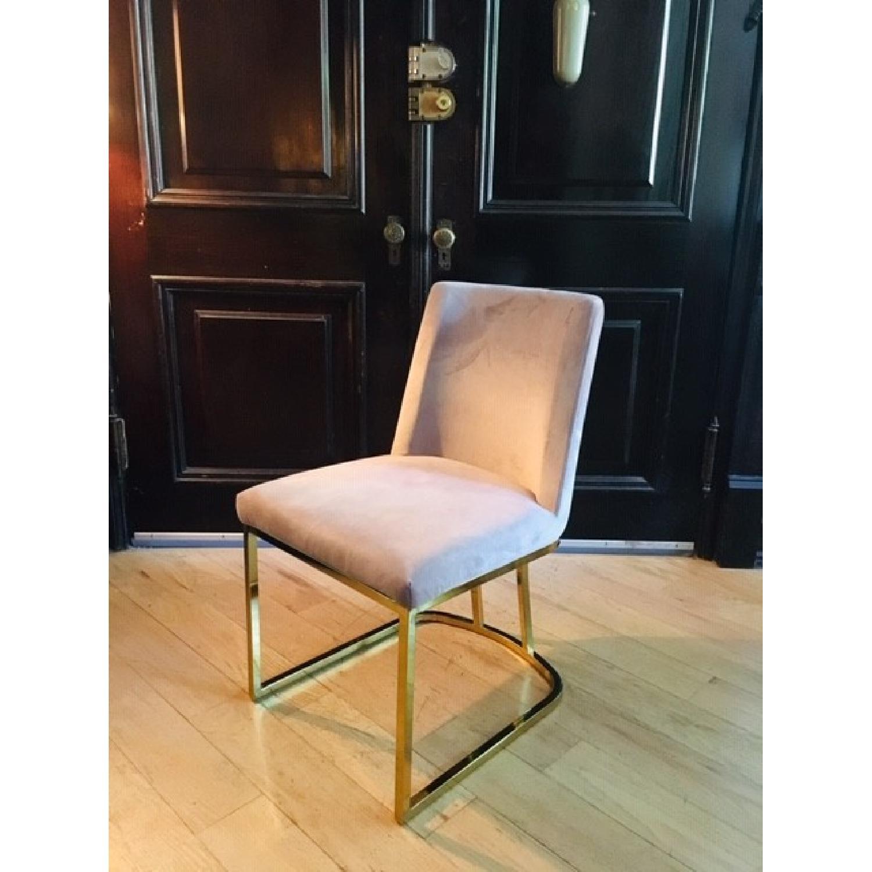 Pink/Purple Velvet Chairs - image-2