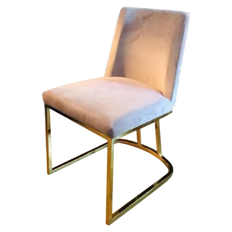 Pink/Purple Velvet Chairs - image-0