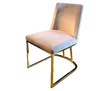 Pink/Purple Velvet Chairs