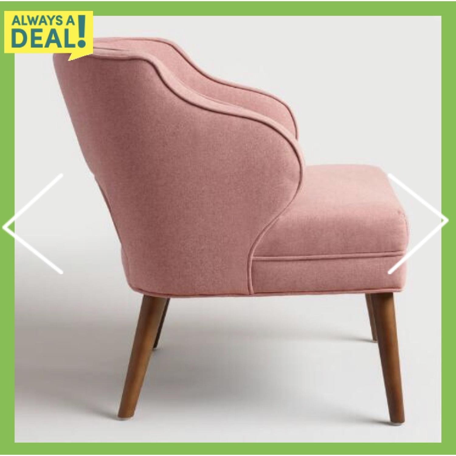 World Market Rose Pink Tyley Upholstered Chair - image-2
