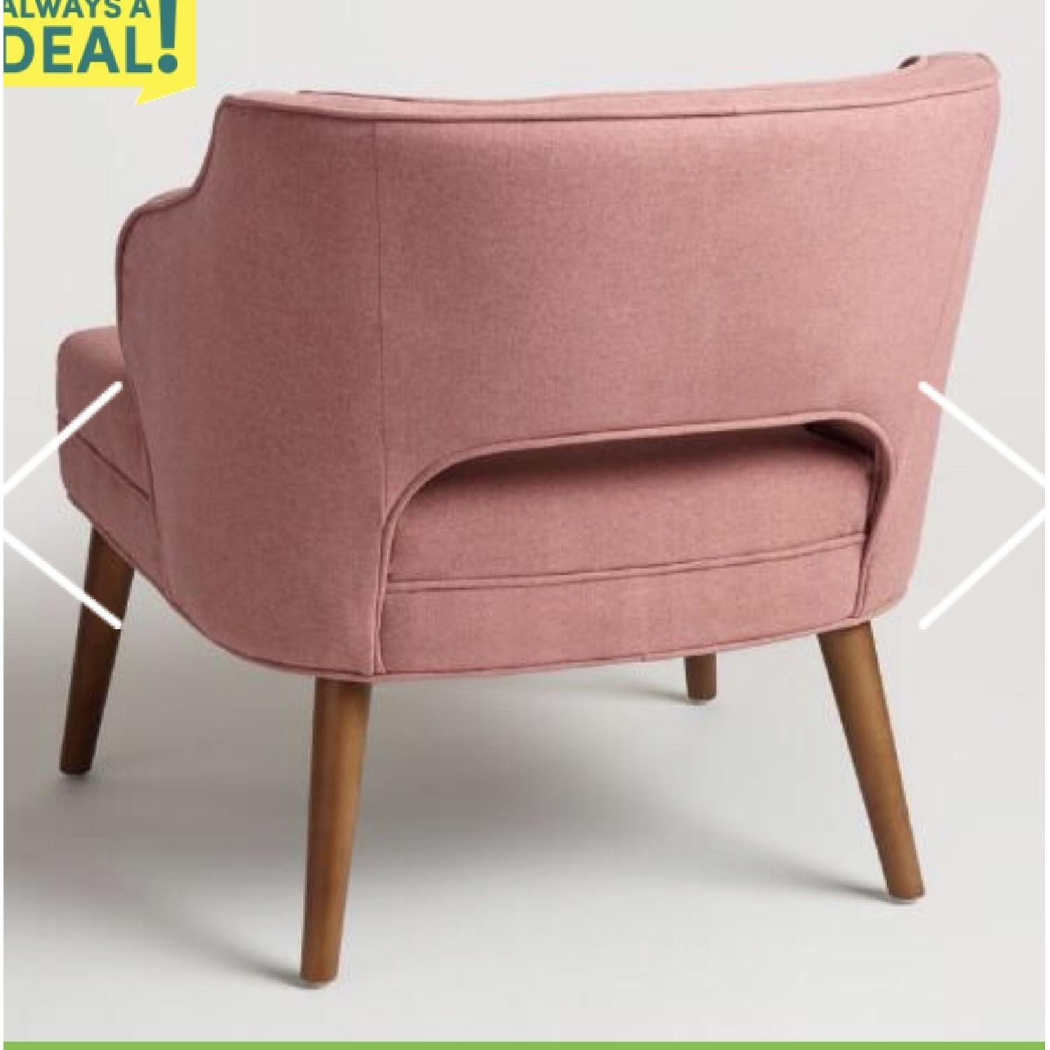 World Market Rose Pink Tyley Upholstered Chair - image-3