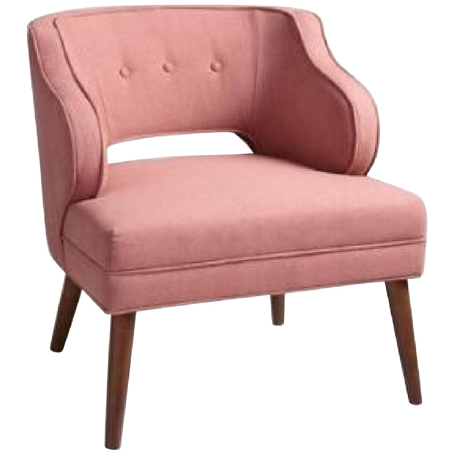 World Market Rose Pink Tyley Upholstered Chair - image-0