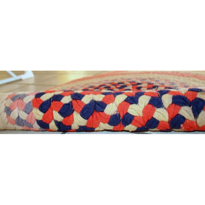 Antique Handmade American Braided Rug - image-1