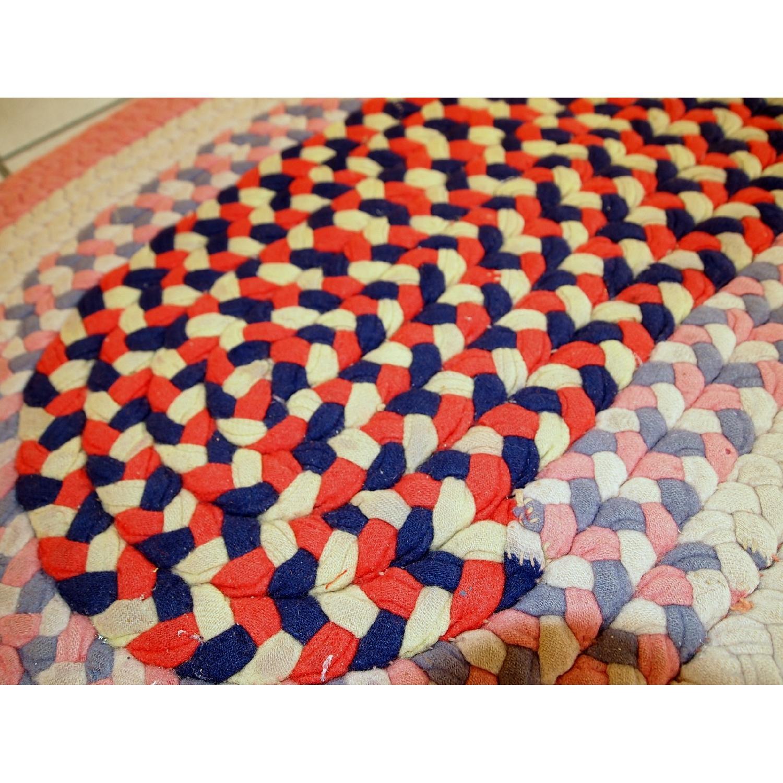 Antique Handmade American Braided Rug - image-4