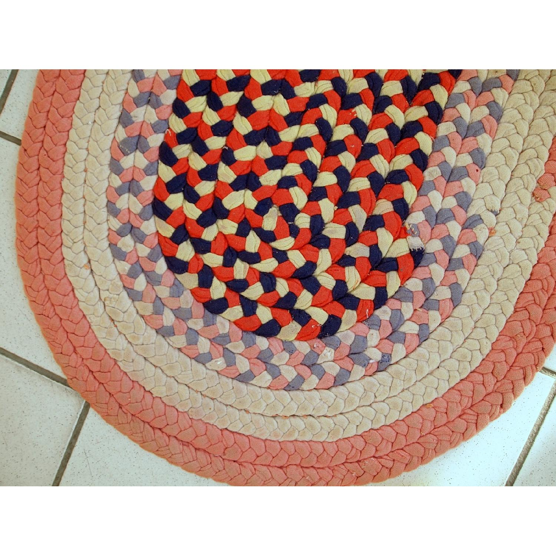 Antique Handmade American Braided Rug - image-5