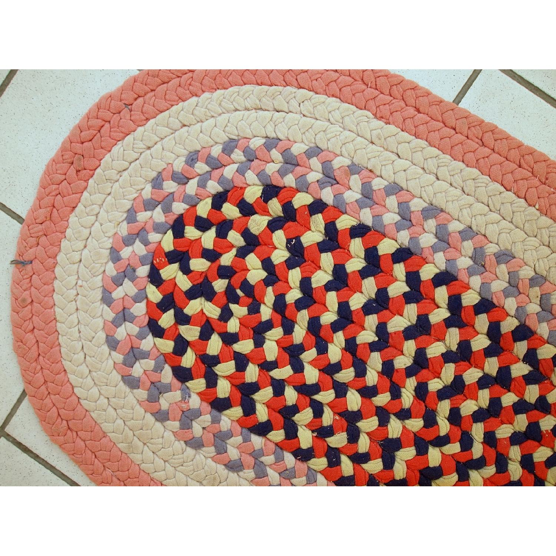 Antique Handmade American Braided Rug - image-7