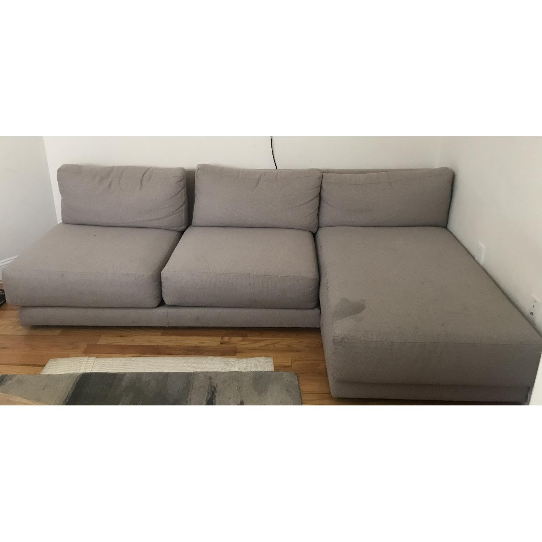 Crate & Barrel 2-Piece Moda Sectional Sofa - image-1