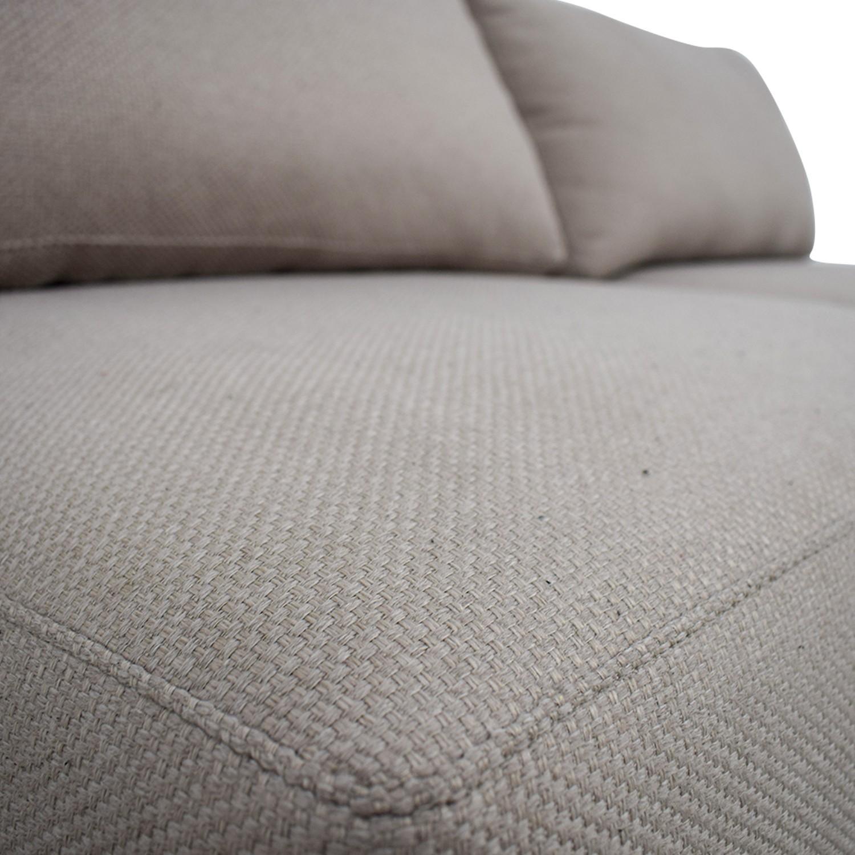 Crate & Barrel 2-Piece Moda Sectional Sofa - image-3
