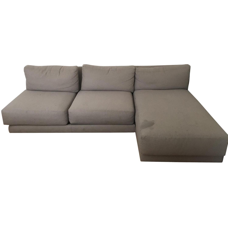 Crate & Barrel 2-Piece Moda Sectional Sofa - image-0