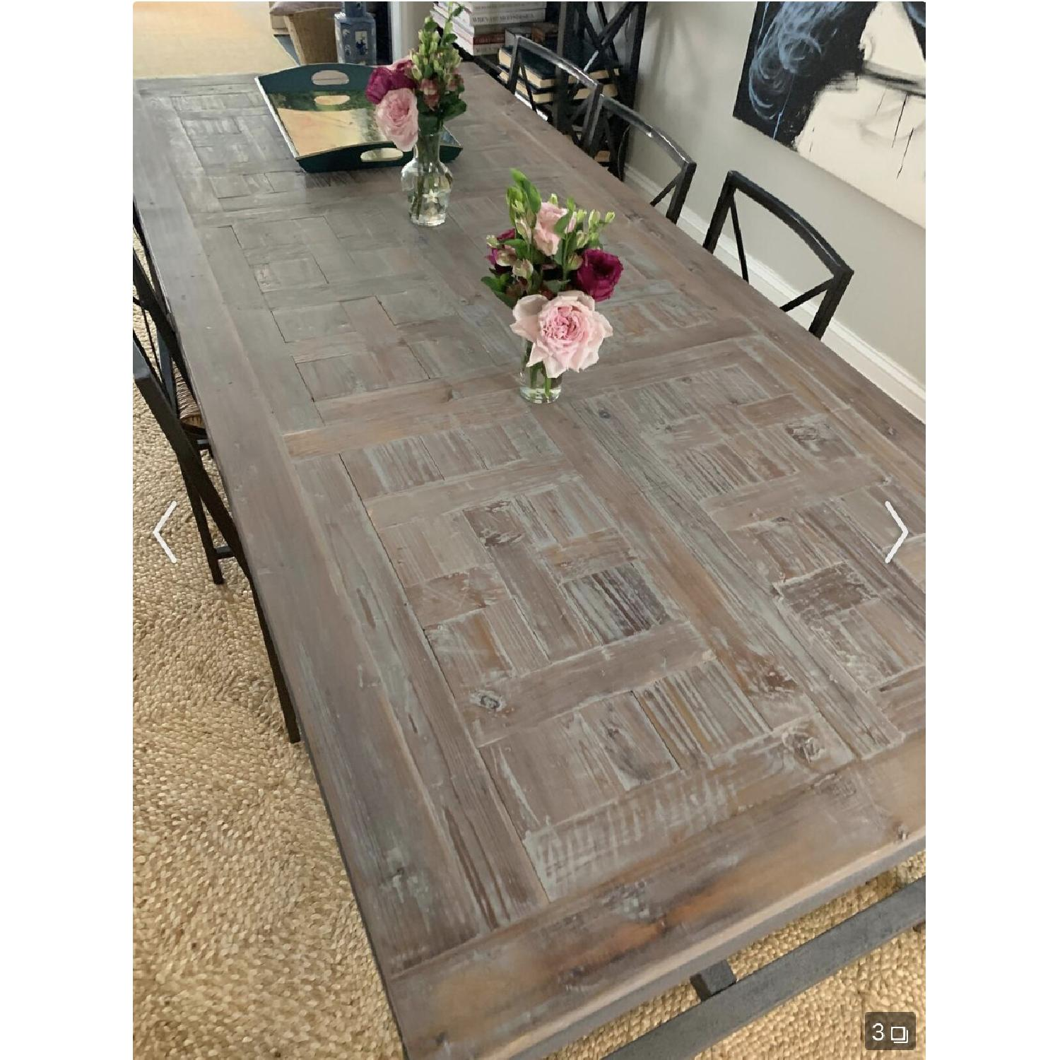 Iron & Wood Dining Table - image-3