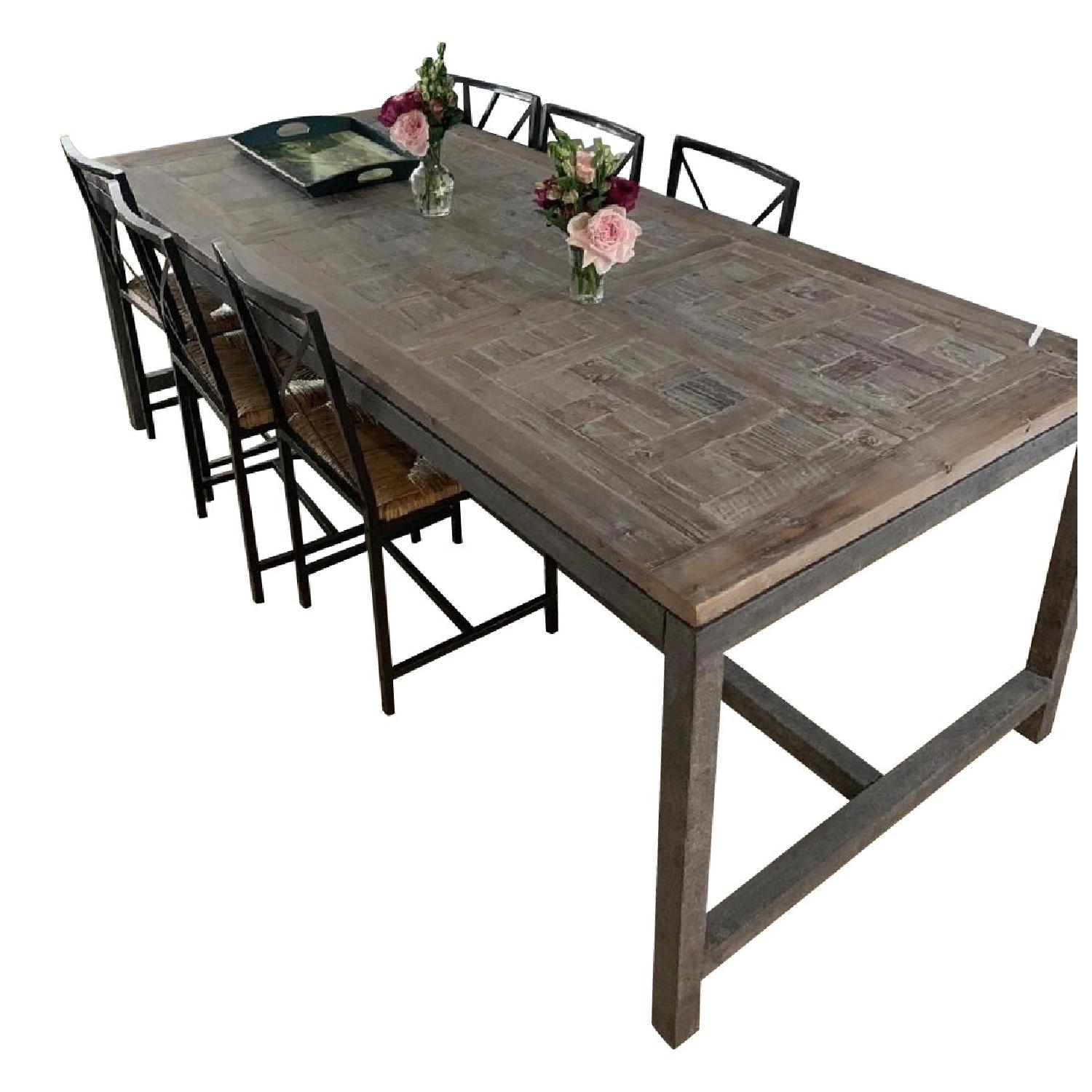 Iron & Wood Dining Table - image-0