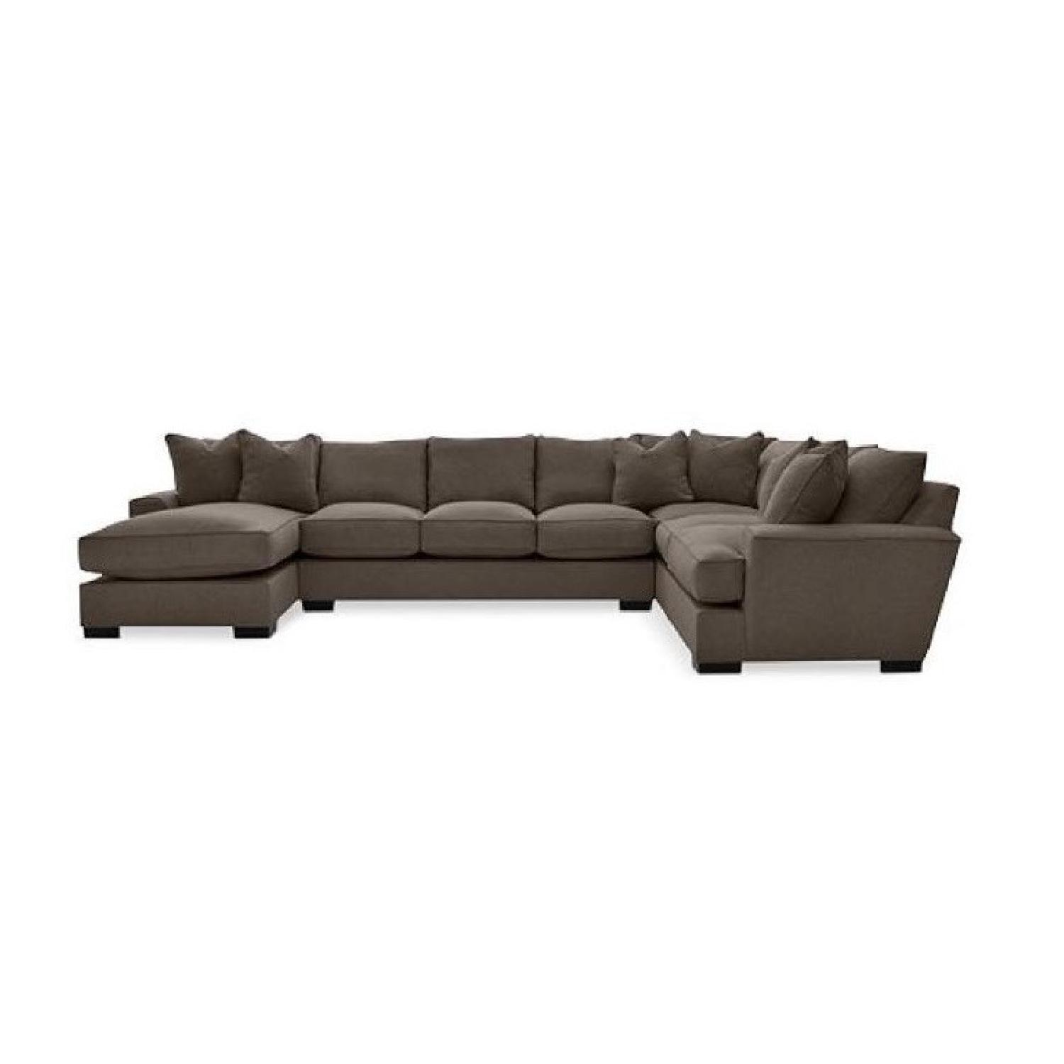 Macy's Ainsley 3-Piece Fabric Chaise Sectional Sofa - image-0