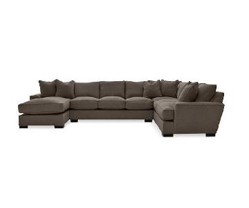 Macy's Ainsley 3-Piece Fabric Chaise Sectional Sofa