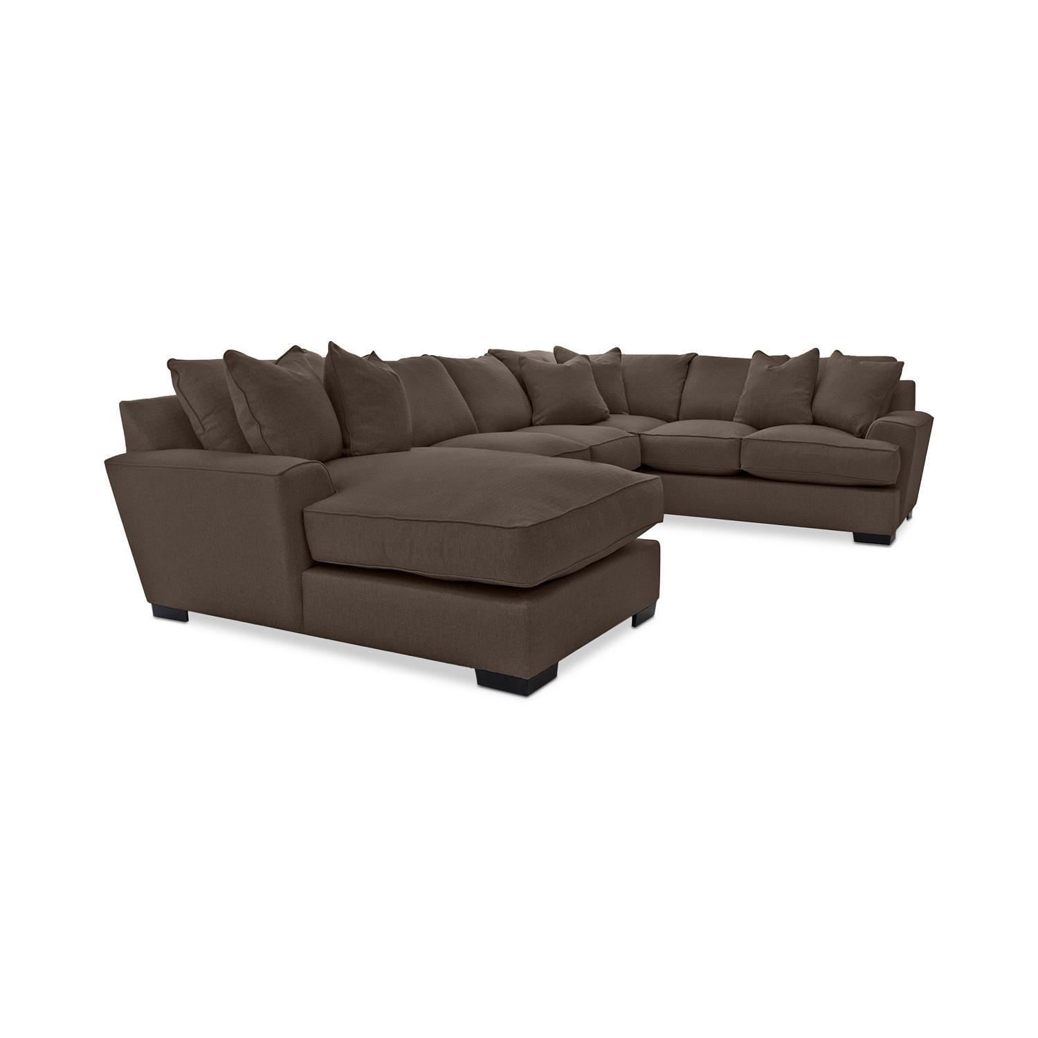 Macy's Ainsley 3-Piece Fabric Chaise Sectional Sofa - image-1