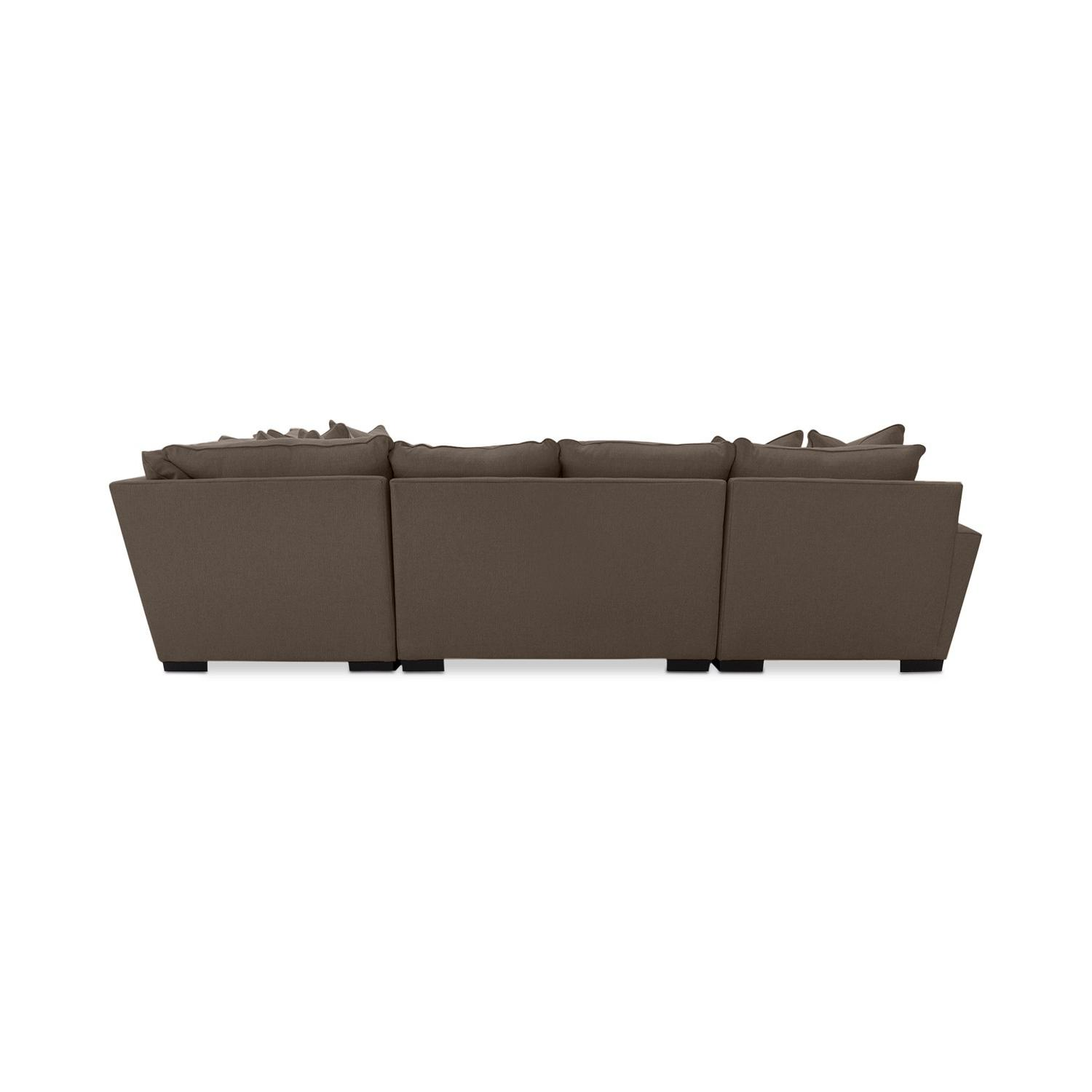 Macy's Ainsley 3-Piece Fabric Chaise Sectional Sofa - image-2