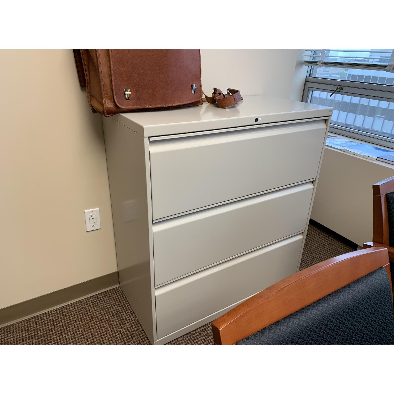 White 3-Drawer Storage/File Cabinet - image-2
