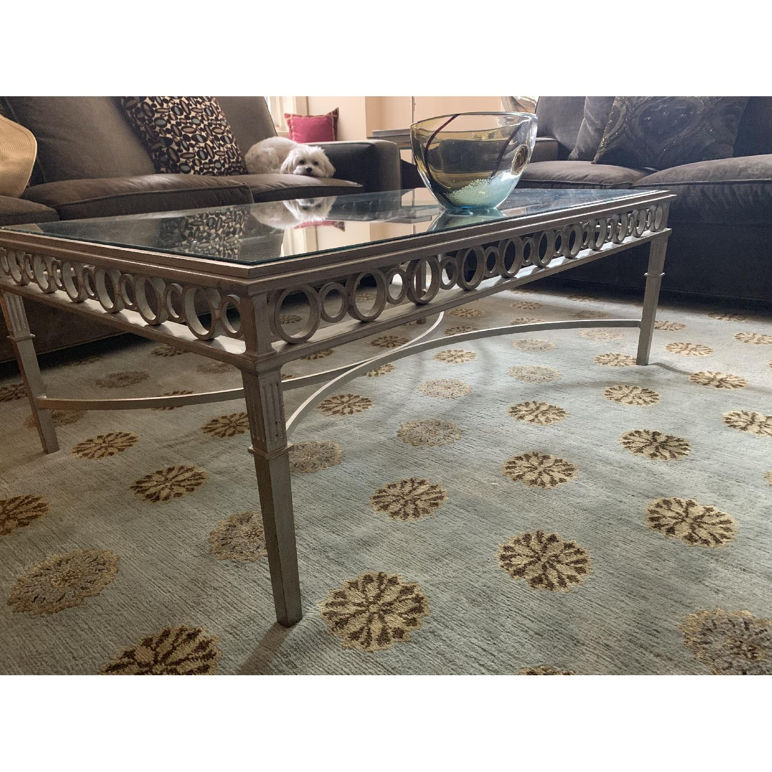 Glass & Steel Cocktail Table