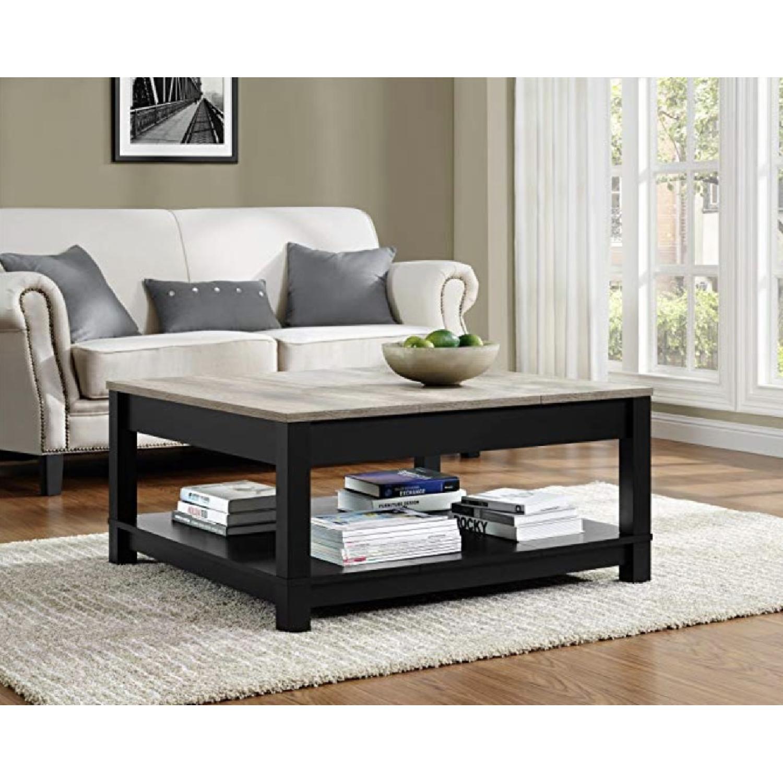 Ameriwood Home Carver Black Coffee Table - image-1