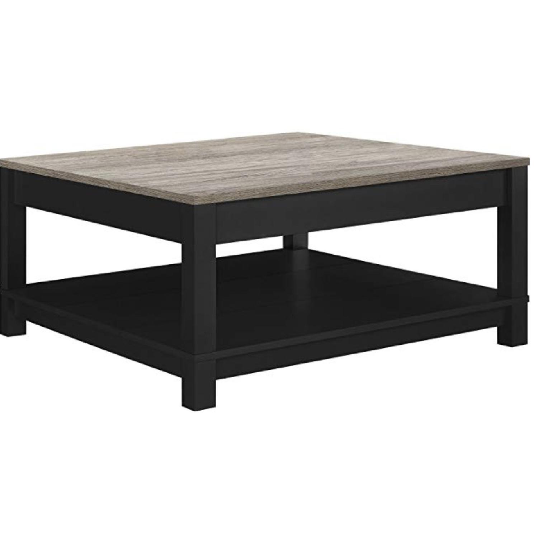Ameriwood Home Carver Black Coffee Table - image-0