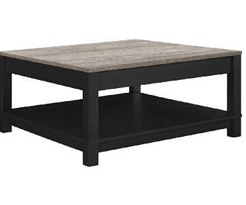 Ameriwood Home Carver Black Coffee Table