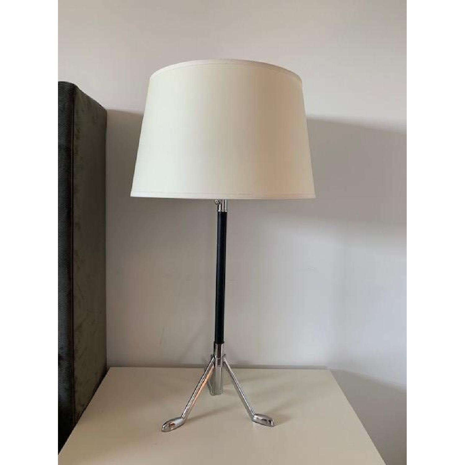 Robert Abbey Todd Table Lamps w/ White Shades - image-1