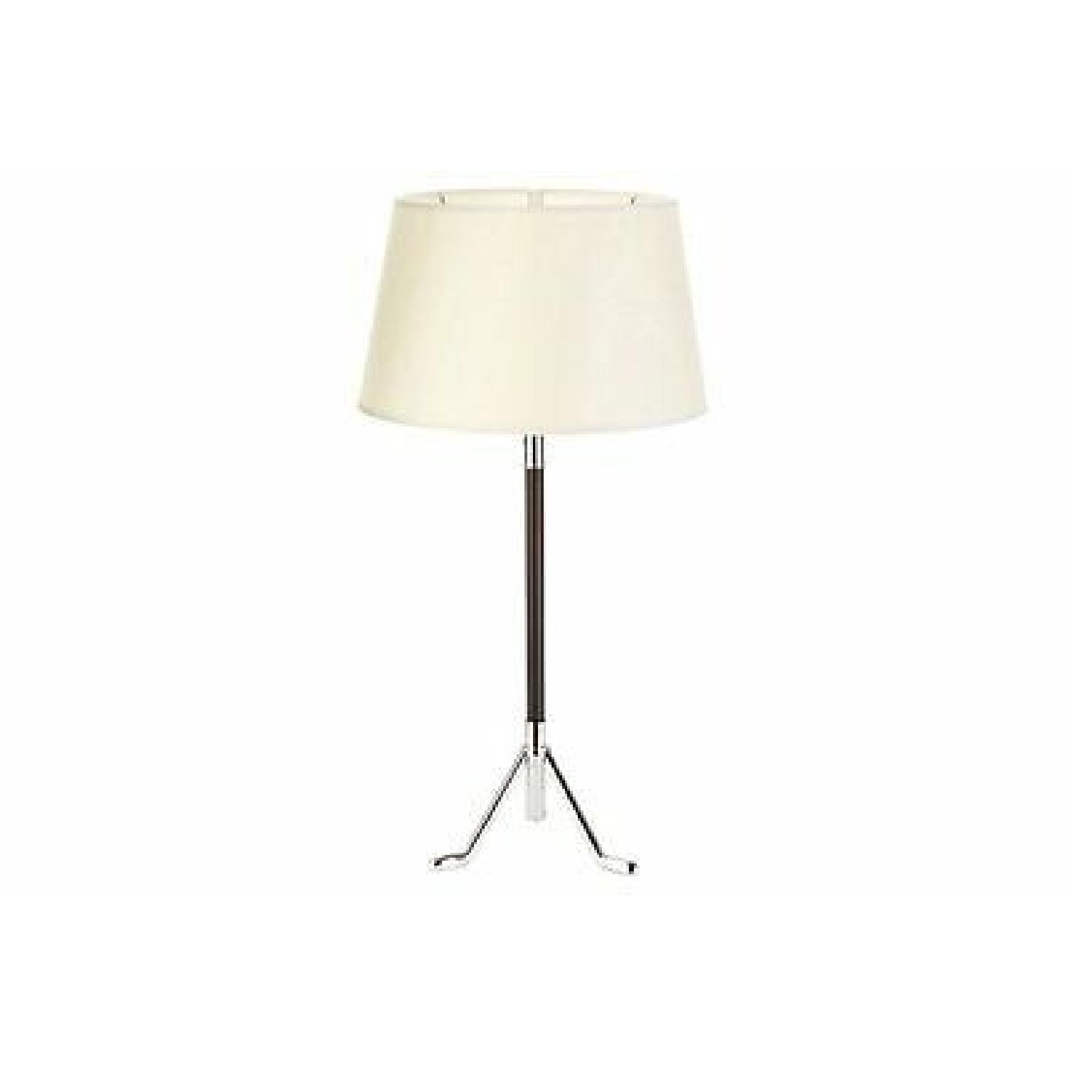 Robert Abbey Todd Table Lamps w/ White Shades - image-0