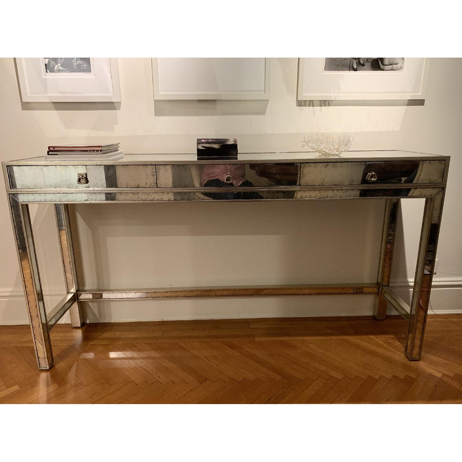 John Richard Silver Eglomise Console Table - image-2